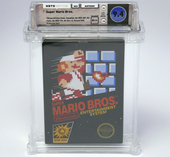 Boxed copy of Super Mario Bros. for the NES